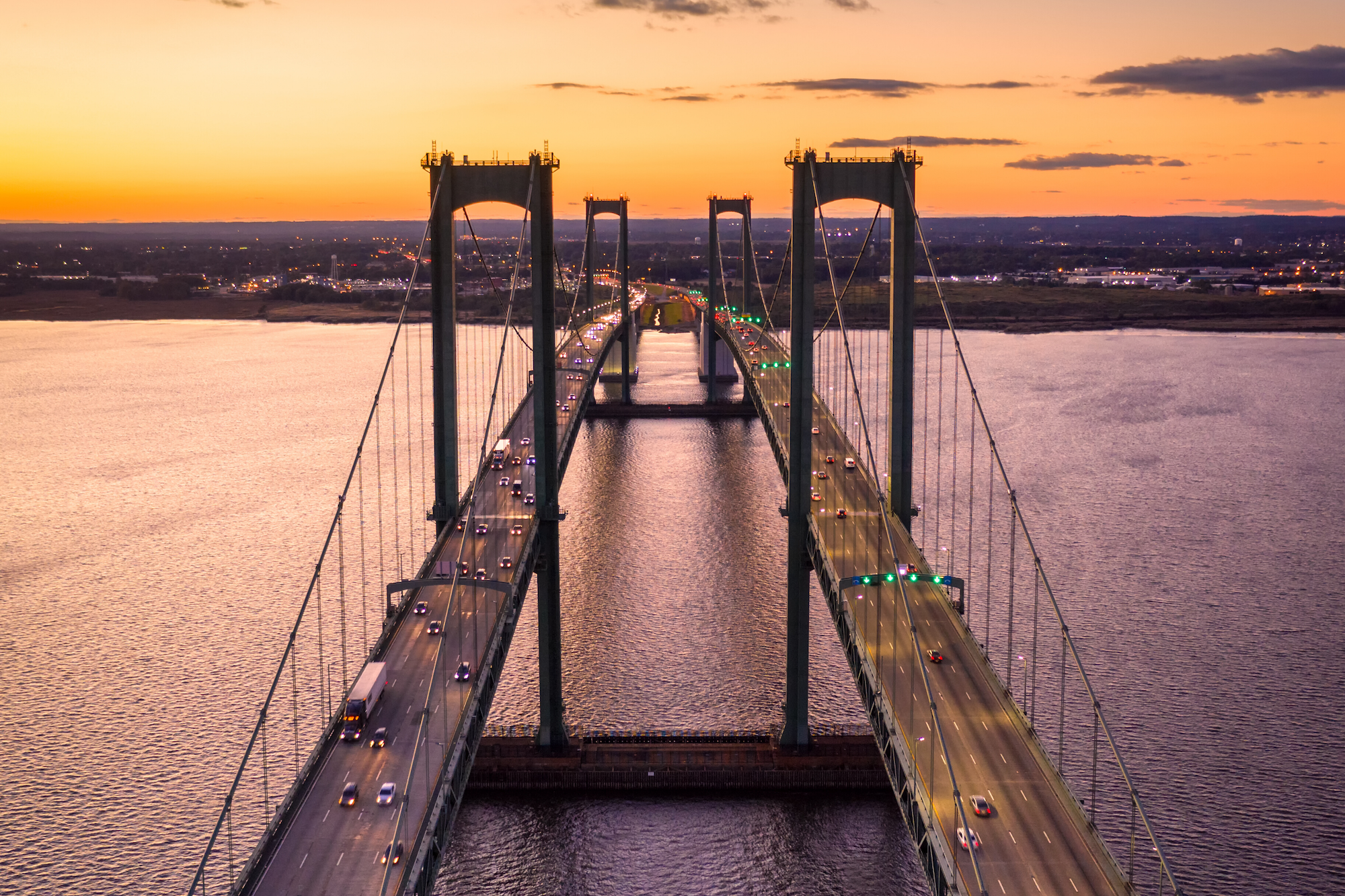 Delaware Memorial Bridge, Delaware River