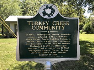 Turkey Creek Community sign | photo by Harriet Festing